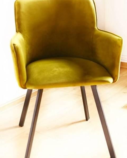 OKAY nábytok Jedálenská stolička Vian zelená, čierna