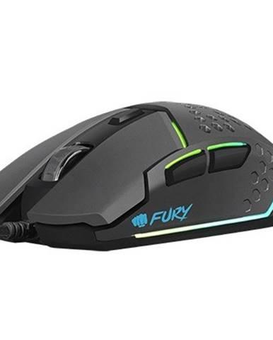 Herná optická myš FURY Battler 6400DPI, čierna + Zdarma podložka Olpran