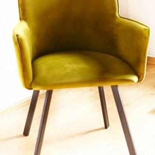 Jedálenská stolička Vian zelená, čierna