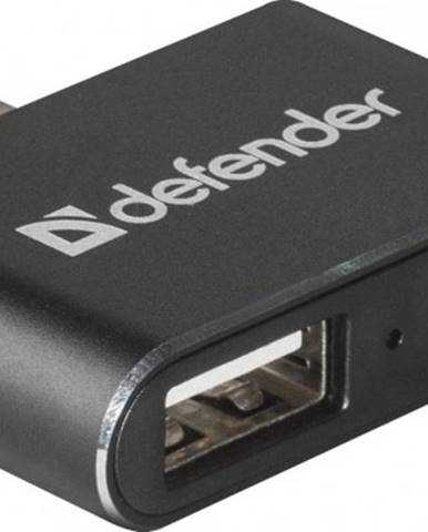 Hub Defebder Quadro Dual USB rozbočovač, USB-C/2xUSB 2.0, čierna