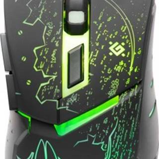 Herná myš Defender Alfa GM-703L, 3200dpi, 6tl., čierna + Zdarma podložka Olpran