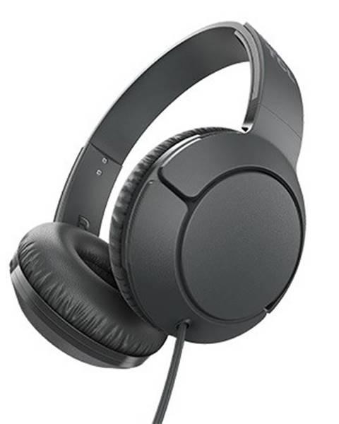TCL TCL slúchadlá náhlavné, drôtové, mikrofón, čierna