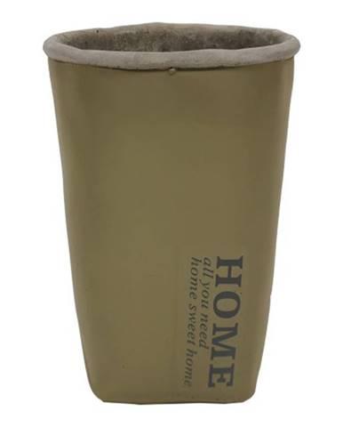 Cementová váza CV06 khaki