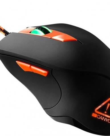 Drôtová myš Canyon CND-SGMO3RGB, herná, podsvietená, čierna + Zdarma podložka Olpran