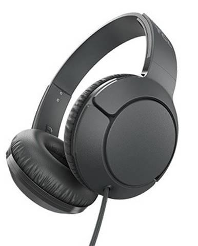 TCL slúchadlá náhlavné, drôtové, mikrofón, čierna
