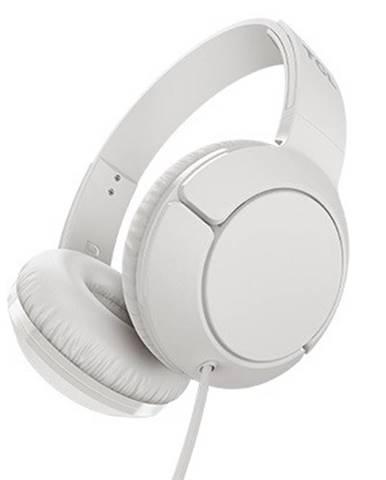 TCL slúchadlá náhlavné,drôtové,mikrofón,ploché skladanie,biela