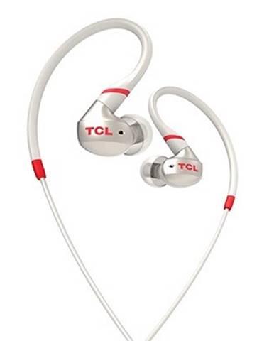 TCL športové slúchadlá do uší, drôtové, mikrofón, IPX4, biela