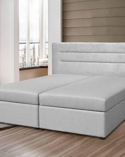 OKAY nábytok Čalúnená posteľ Boxspring Elodie 180x200, vr. mat. a ÚP