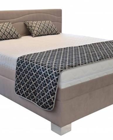 Čalúnená posteľ Windsor 200x200, vr. poloh. roštu, matraca a úp