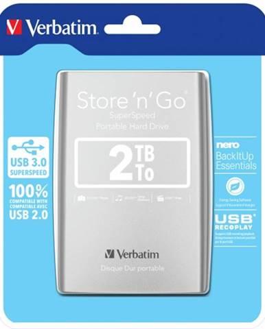 Verbatim HDD 2TB USB 3.0 strieborný