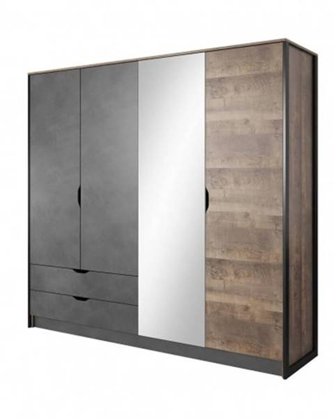 OKAY nábytok Šatníková skriňa Laura-220x204x56 cm