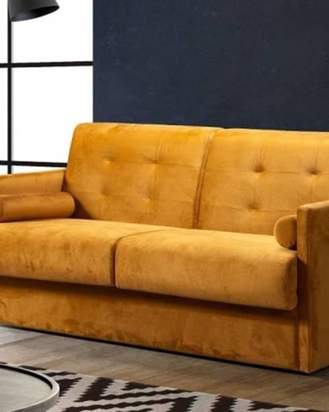 OKAY nábytok Trojsedačka Lorano rozkladacia žltá ÚP