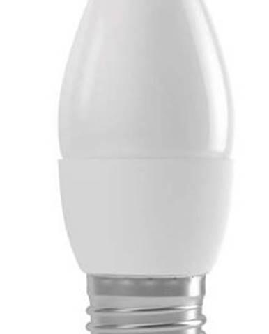 LED žiarovka Emos ZQ3110, E27, 4W, sviečka, matná, teplá biela