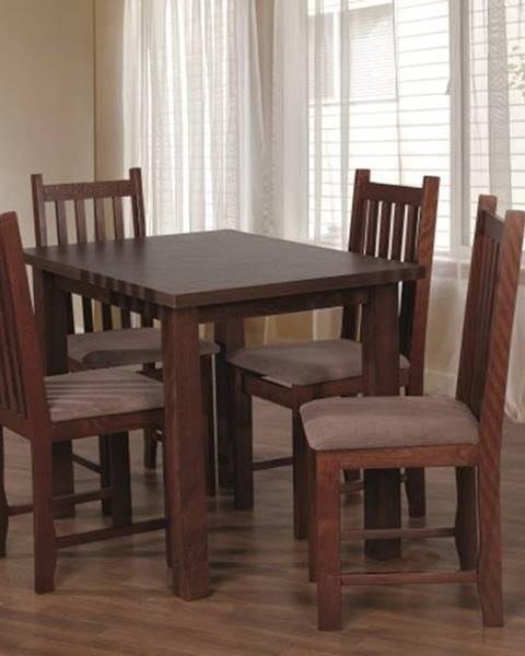 OKAY nábytok Jedálenský set 31 - Stôl 100x70, 4x stolička