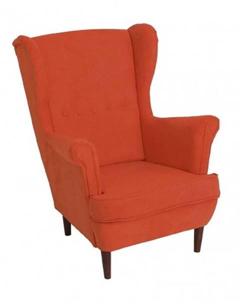 OKAY nábytok Kreslo ušiak Flo oranžová