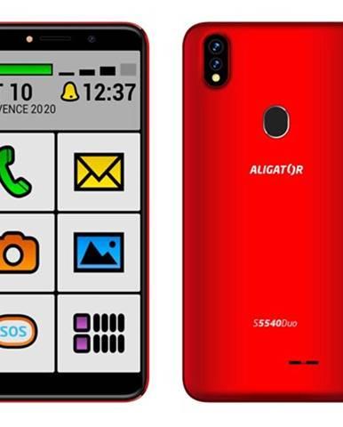 Mobilný telefón Aligator S5540KS 2GB/32GB, Kids+Senior, červená