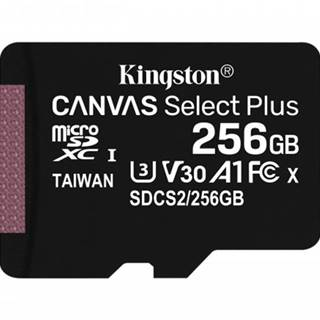256GB microSDXC Kingston Canvas Select Plus A1 CL10 100MB/s