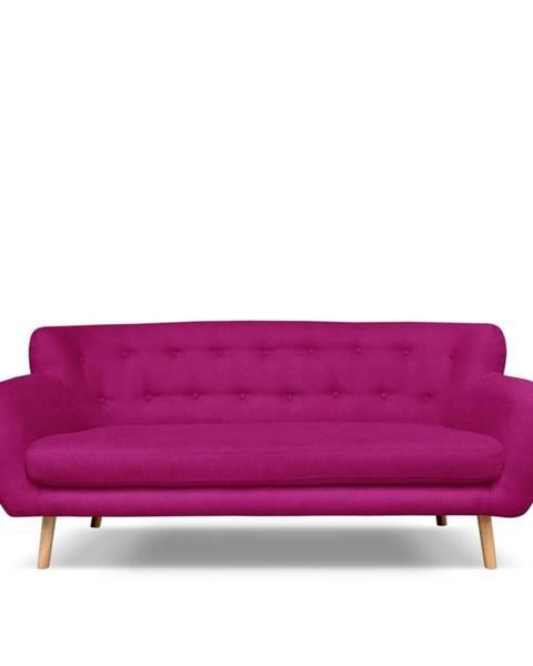 Cosmopolitan Design Tmavoružová pohovka Cosmopolitan design London, 192 cm