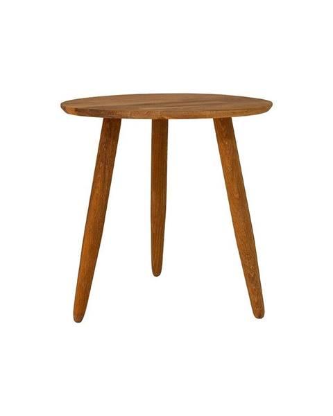 Canett Odkladací stolík z masívneho dubového dreva Canett Uno, ø 40 cm