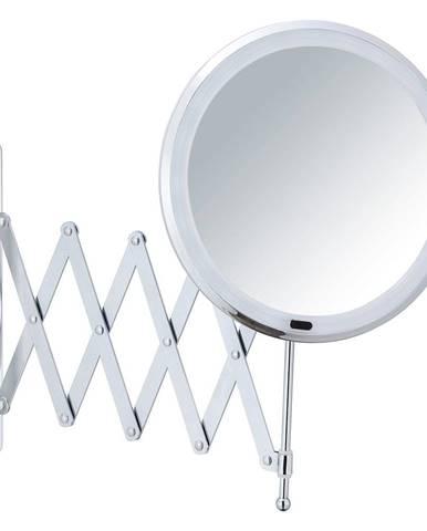 Nástenné kozmetické zrkadlo s LED podsvietením a teleskopickým držiakom Wenko Barona