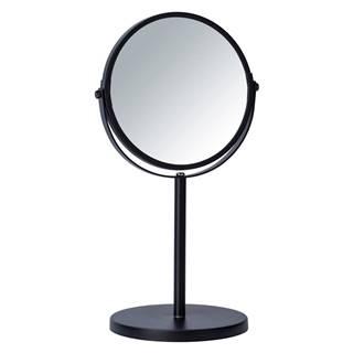 Čierne kozmetické zrkadlo Wenko Assisi, ⌀17cm