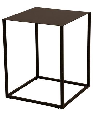 Čierny kovový odkladací stolík Canett Lite, 40 x 40 cm