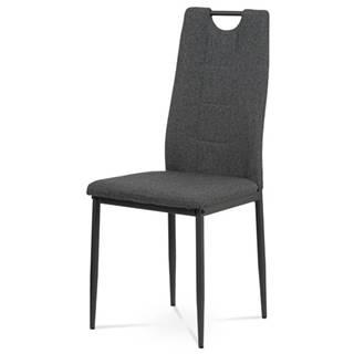 Jedálenská stolička LEILA sivá/antracit