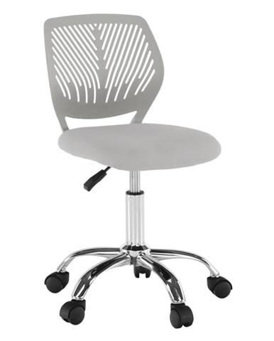Otočná stolička sivá/chróm SELVA