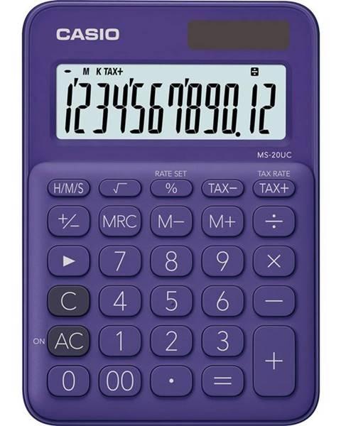 Casio Kalkulačka Casio MS 20 UC PL fialov