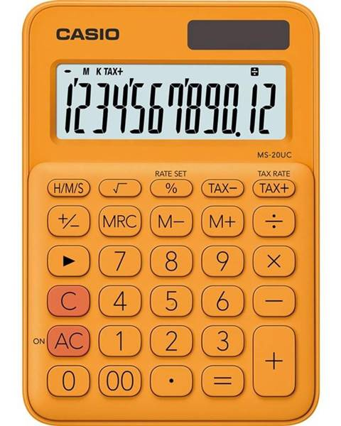 Casio Kalkulačka Casio MS 20 UC RG oranžov