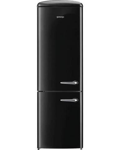 Kombinácia chladničky s mrazničkou Gorenje Retro Ork192bk-L čierna