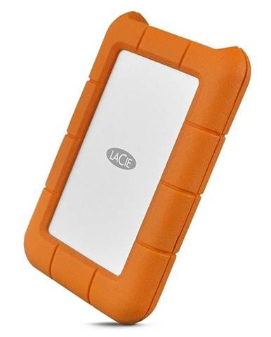 Externý pevný disk Lacie Rugged 2TB, USB-C oranžový