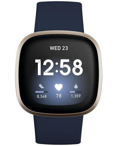 Inteligentné hodinky Fitbit Versa 3 - Midnight/Soft Gold Aluminum