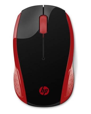 Myš  HP 200 čierna/červená