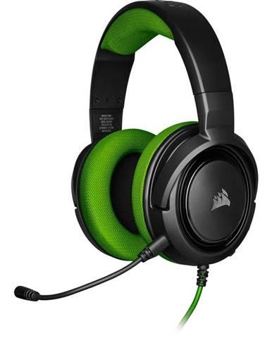 Headset  Corsair HS35 čierny/zelený