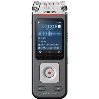 Diktafón Philips DVT6110 čierny/strieborn