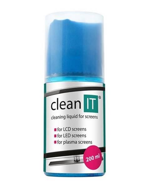 Clean IT Čistiaca sada Clean IT na obrazovky s utěrkou ve víčku, 200ml