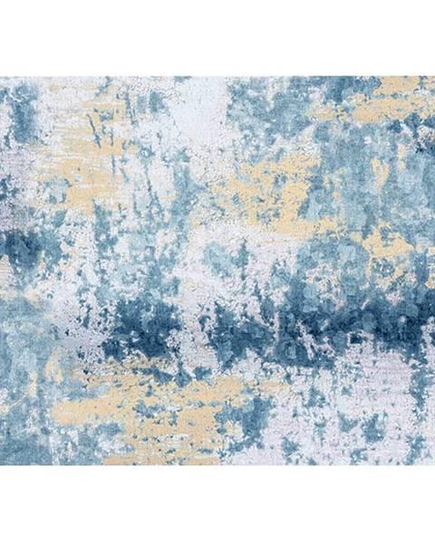 Tempo Kondela Koberec modrá/sivá/žltá 160x230 MARION TYP 1