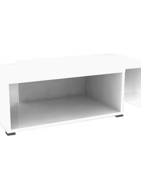 Kondela Konferenčný rozkladací stolík biela DRON