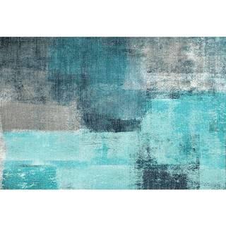 Koberec modrá/sivá 80x150 ESMARINA TYP 2