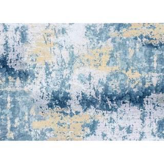 Koberec modrá/sivá/žltá 160x230 MARION TYP 1