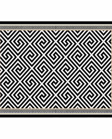 Koberec čierno-biely vzor 80x200 MOTIVE