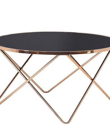 Konferenčný stolík rose gold chróm ružová/čierna ROSALO