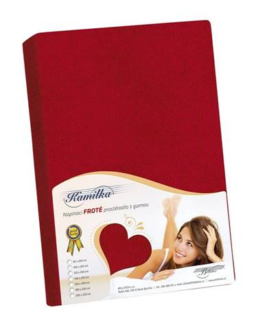 Bellatex Froté prestieradlo Kamilka červená, 200 x 220 cm
