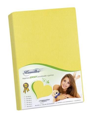Bellatex jersey prestieradlo Kamilka žltá, 90 x 200 cm