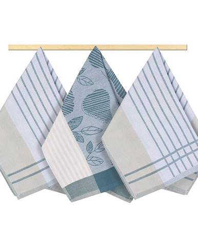 Bellatex Kuchynská utierka prúžok sivo-modrá, 50 x 70 cm, sada 3 ks