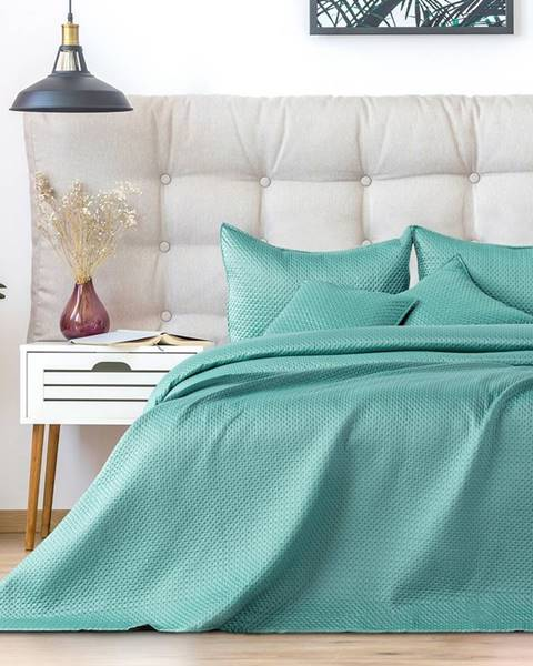 DecoKing AmeliaHome Prehoz na posteľ Carmen mint, 220 x 240 cm