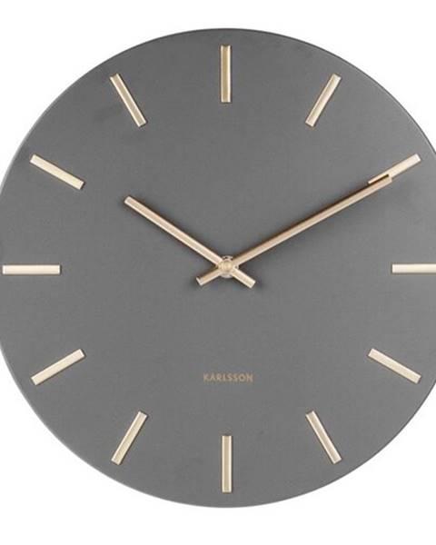 Karlsson Karlsson 5821GY Dizajnové nástenné hodiny pr. 30 cm