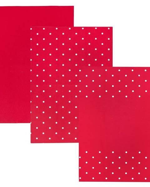 Orion Orion Kuchynská utierka Tečka červená, 50 x 70 cm, sada 3 ks