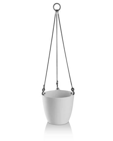 PLASTKON květináč ARIELLA pr.18cm ledově BÍ závěsný